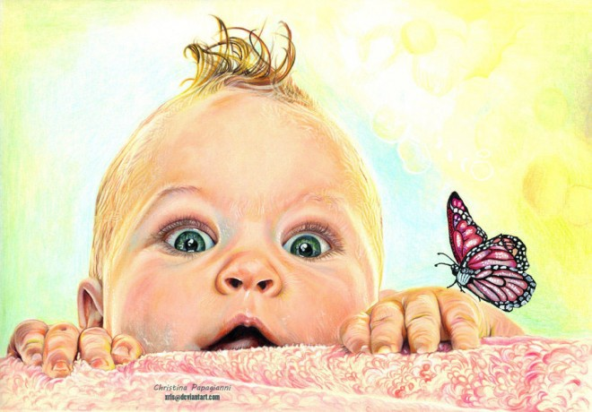 Мальчик и бабочка