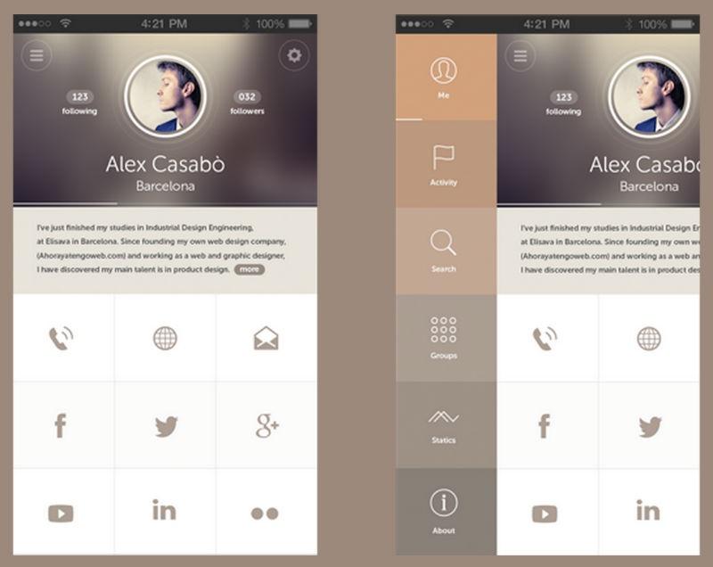 Дизайн в мобильных интерфейсах