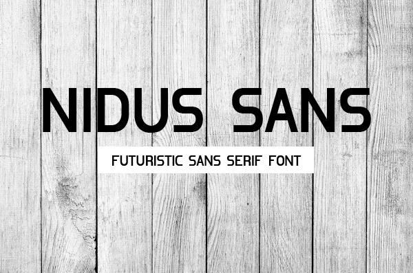Футуристический бесплатный шрифт