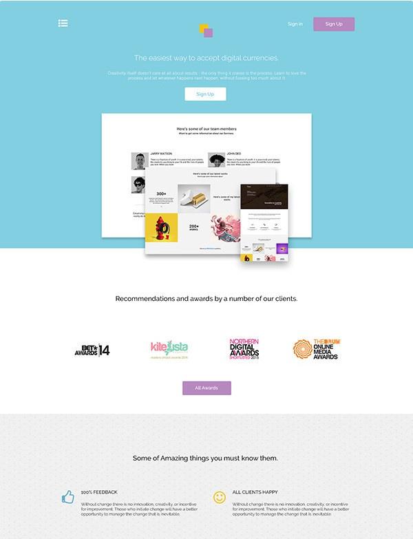 Бесплатный макет для фрилансеров и дизайнеров