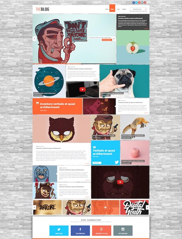 Макет блога бесплатно