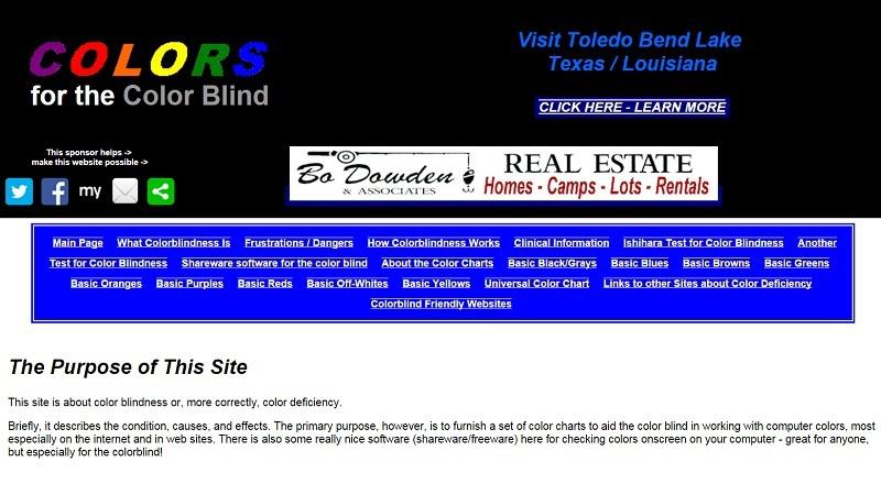 Сайт о дальтонизме