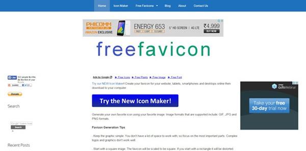 бесплатный генератор фавиконов
