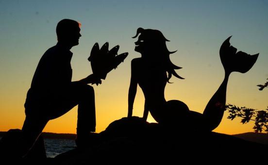 Силуэты на фоне заката