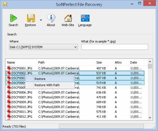 Восстановление удаленного файла
