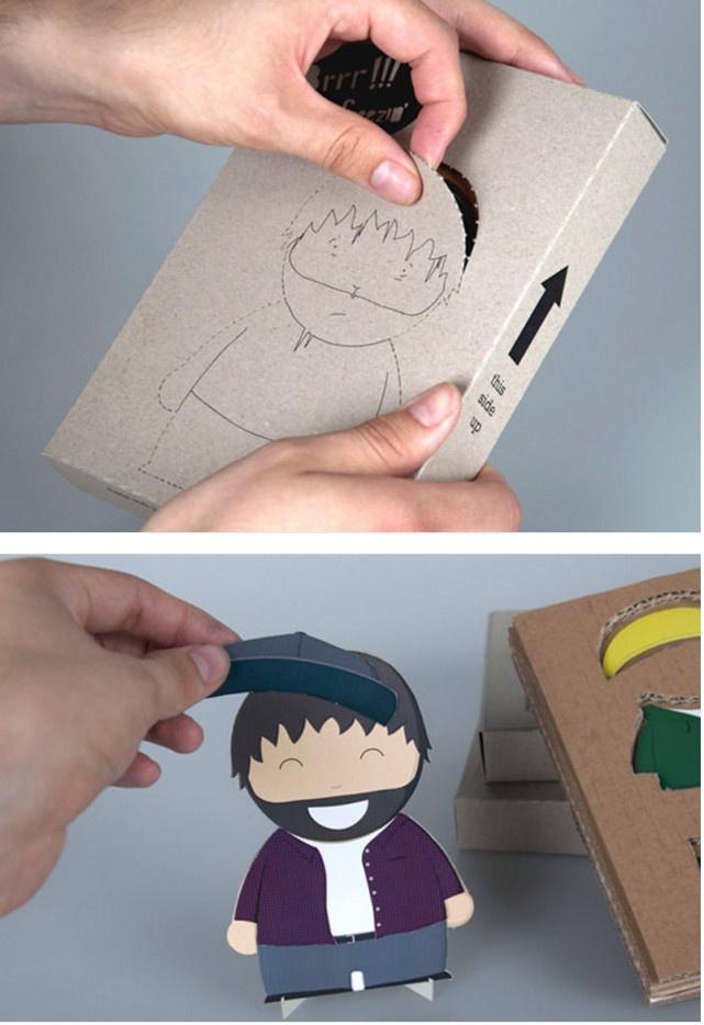 Упаковка для бумажной куклы