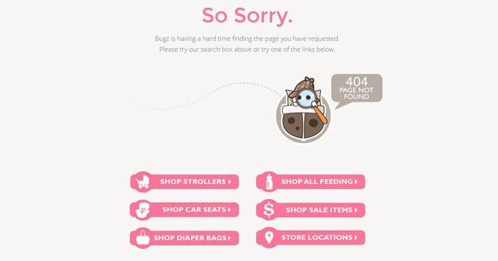 Вариант оформления страницы 404