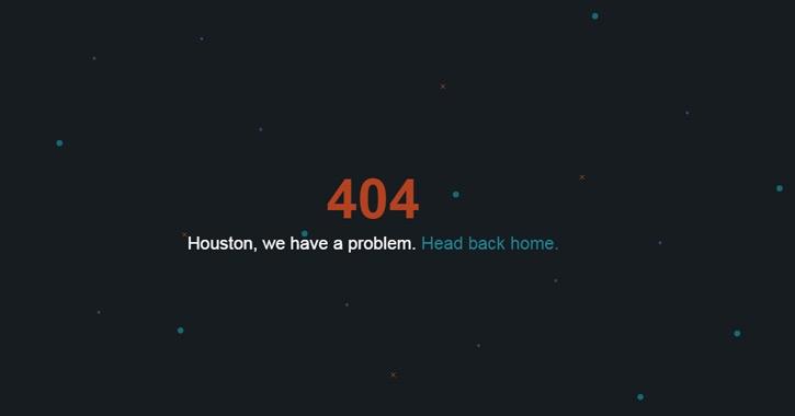 Дизайн веб-страницы 404