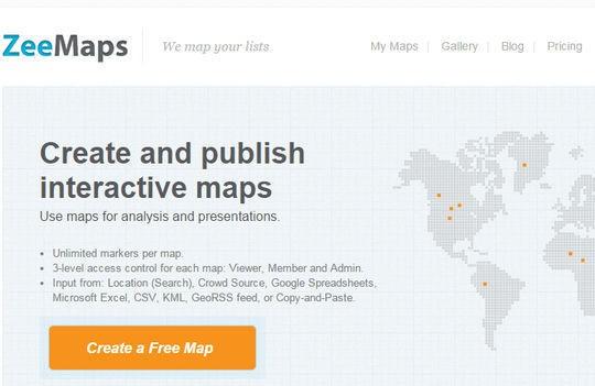 Онлайн инструменты для создания карт