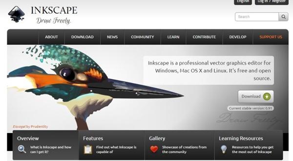 Инструмент Inkscape