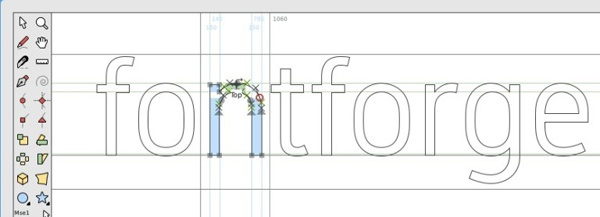 Инструмент Fontforge