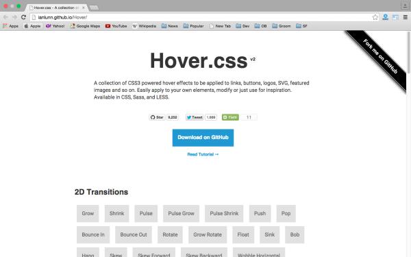 Инструмент Hover.css
