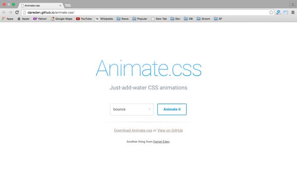 Инструмент Animate.css