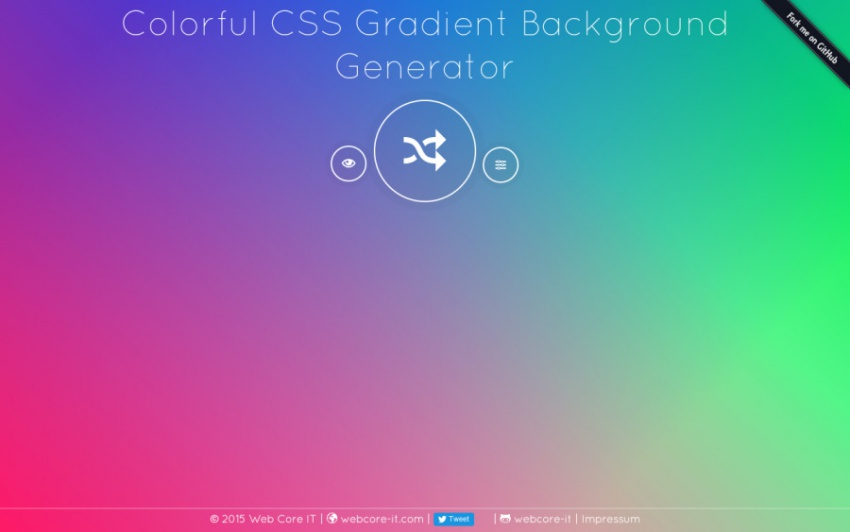 Инструмент Colorful CSS Gradient Background Generator