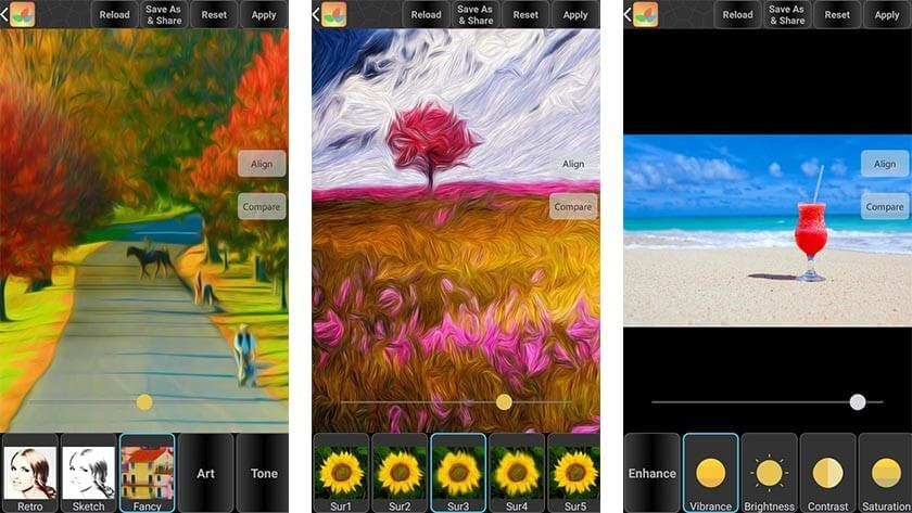 Мобильное приложение Bonfire Photo Editor