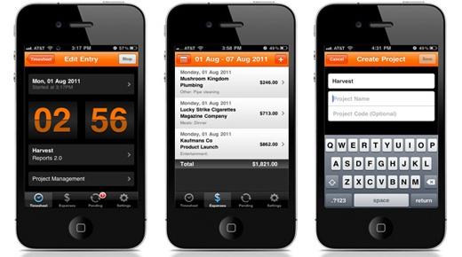 Приложение Harvest Time and Expense Tracker