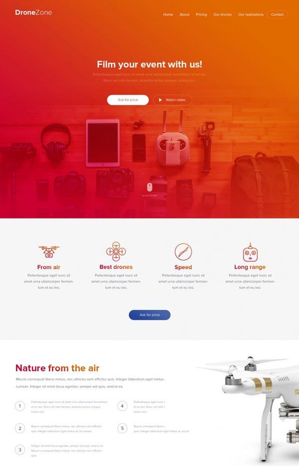 Шаблон сайта про дроны