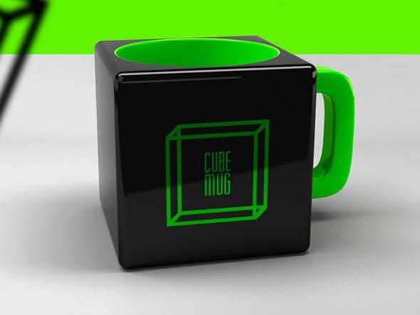 Чашка в форме куба