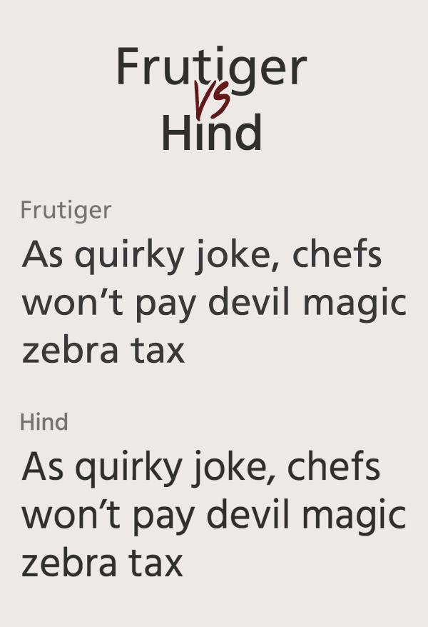 Frutiger и Hind