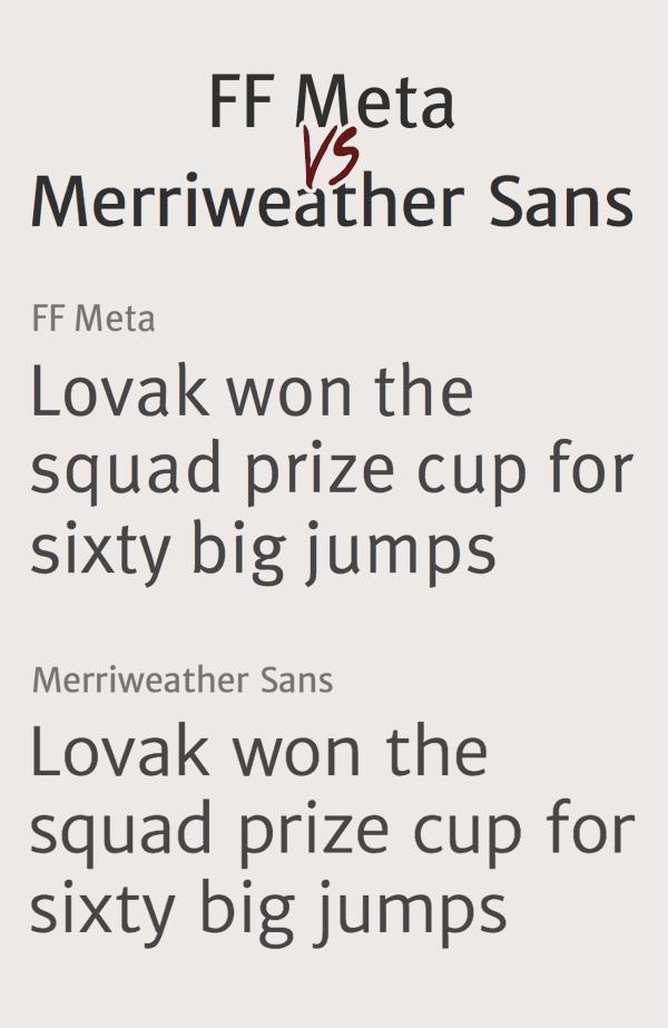 FF Meta и Merriweather Sans