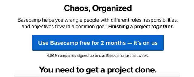 Приложение Basecamp