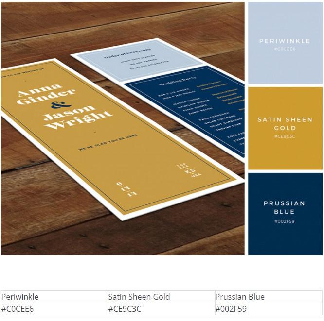 Цветовые схемы в дизайне приглашений
