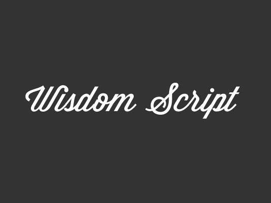 шрифт Wisdom