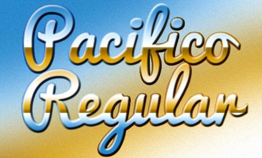 Шрифт Pacifico