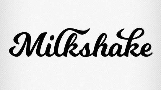 Шрифт Milkshake