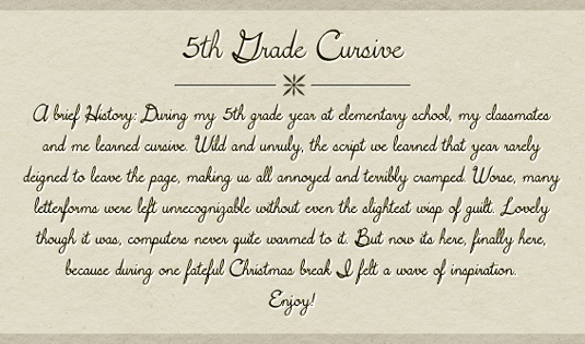 Шрифт 5th Grade Cursive