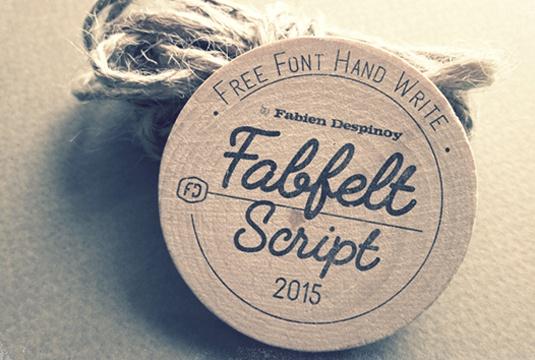 Шрифт Fabfelt