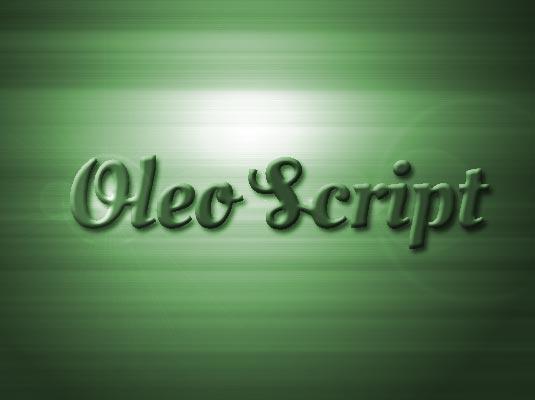 Шрифт Oleo