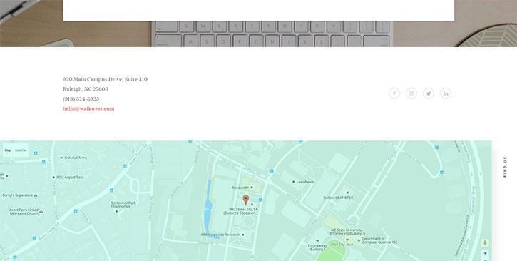 Карты на странице контактов