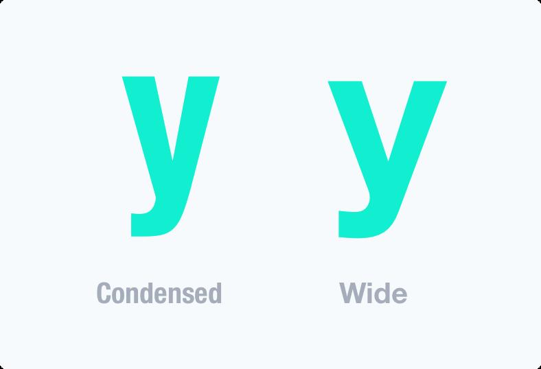 Пропорции шрифта
