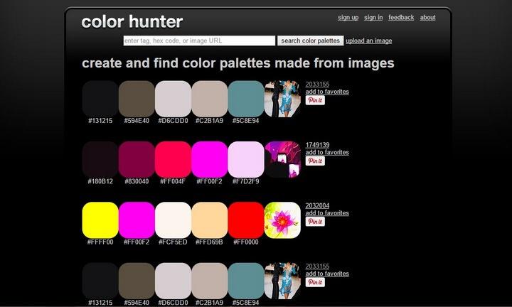 Генераторы цветовых схем
