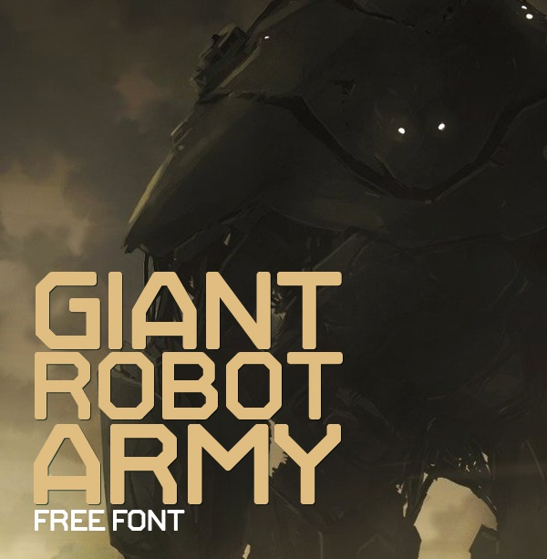 Шрифт Giant Robot Army