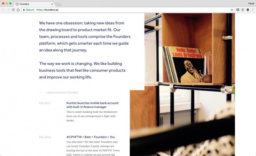 Сайт компании Founders