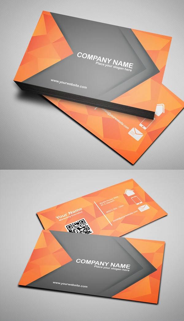 Шаблон современной визитной карточки