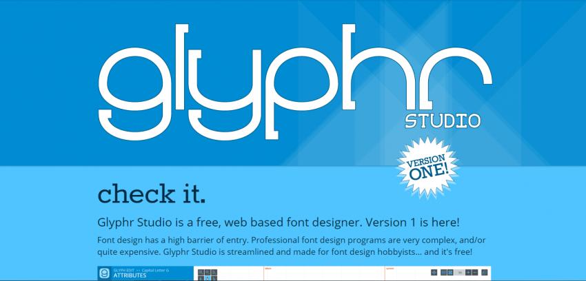 Glyphr Studio - программа для создания шрифтов