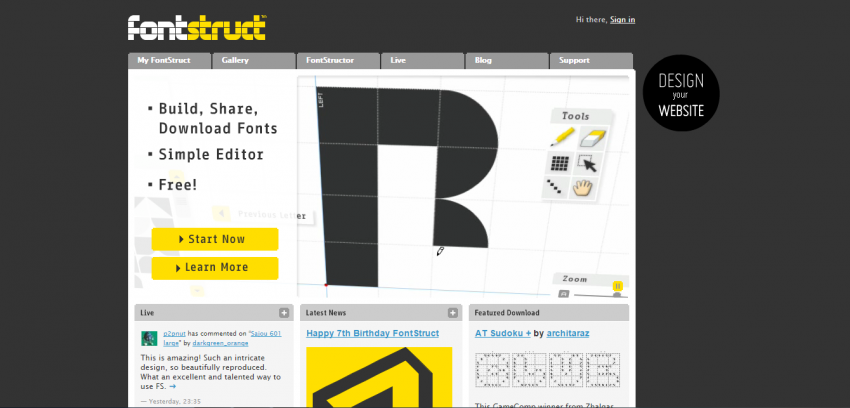 FontStruct - программа для создания шрифтов