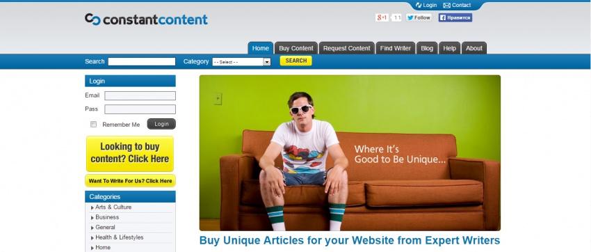 Иностранные фриланс биржи для копирайтеров - Constant Content