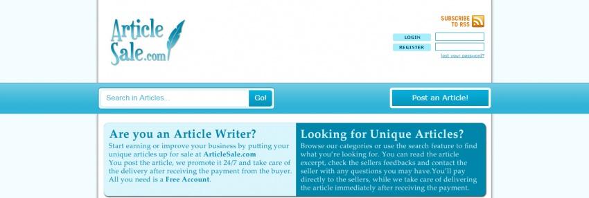 Магазин готового контента от фрилансеров АrticleSale