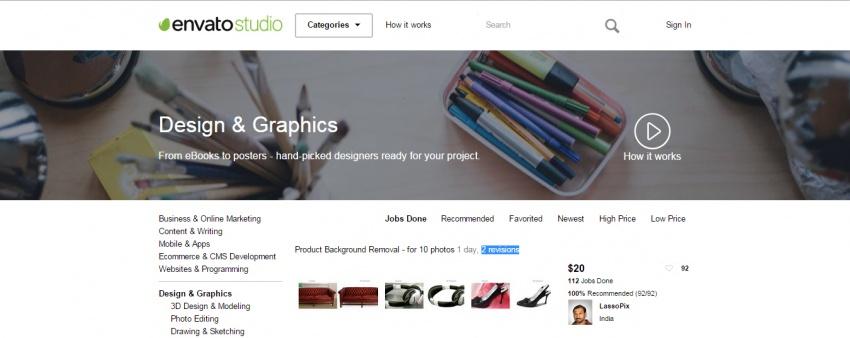 Дизайн и графика на бирже Envato