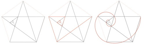 Логотип звезда спираль