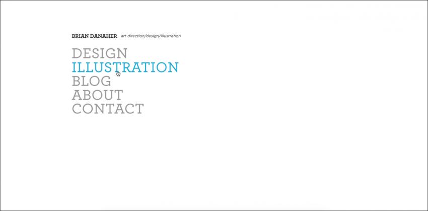 Сайт в минималистском дизайне