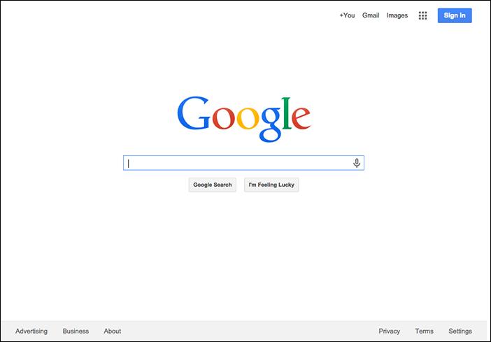 Google минимализм
