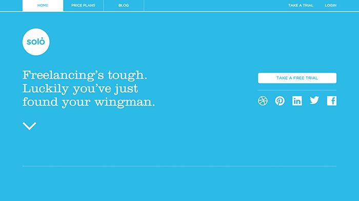 Пример минималистского сайта