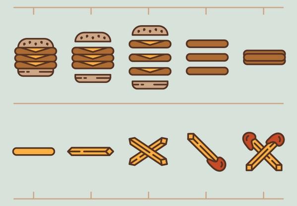 Иконка гамбургер интересные решения