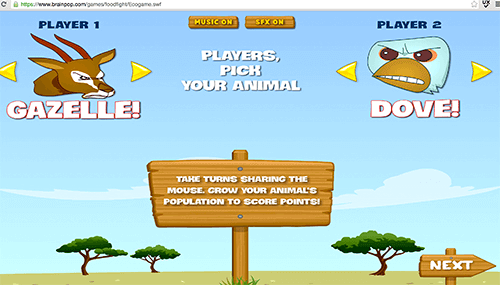Игра для ребенка онлайн