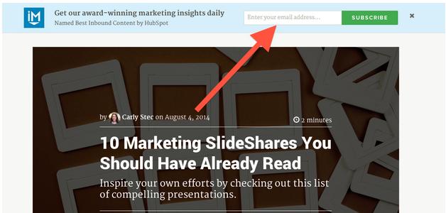 Где лучше всего разместить лид-форму в вашем блоге